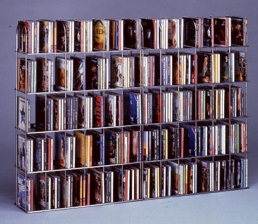 cd reol DACAPO MINI CD reol påbygningssæt, HVID til 21 CD'er cd reol